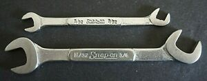 Snap On Lot Of 2 Ds2224 Ds1010 Ignition Wrenches Open End Offset 11 32 3 8 5 32