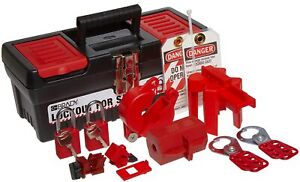 Brady Personal Lockout Tagout Kit For Common Breakers Valves And Plugs Includ