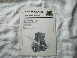 New Holland 355 Grinder mixer Unloading Auger Remote Control Operator s Manual