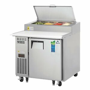 Everest Eppr1 35 One Section Refrigerated Pizza Prep Table 9 0 Cu Ft