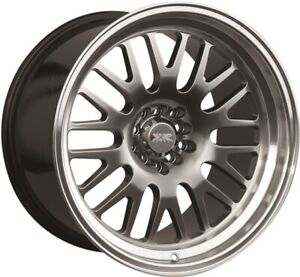 16x8 Xxr 531 4x100 114 3 0 Chromium Black machined Lip Wheels set 4