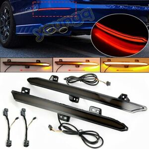 Smoked Led Bumper Reflector Brake Light Sequential Signal For Honda Accord 18 19