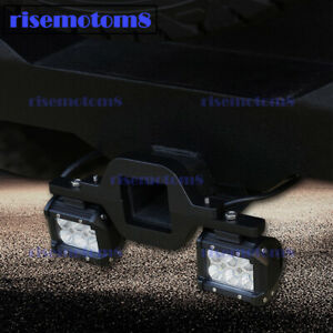 For Toyota Suv Truck 3 Backup Tow Trail Hitch Led Spot Light Pods Mount Bracket