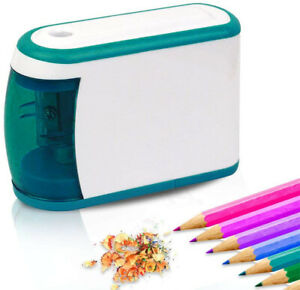 Electric Pencil Sharpener Battery Operated Fast Sharpen School Office Stationery