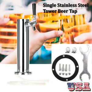 3inch Tap Stainless Steel Draft Beer Tower Kegerator Single Faucets Homebrew