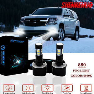880 Led Fog Driving Light Bulb 100w 2400lm For Chevy Chevrolet Tahoe 2000 2006
