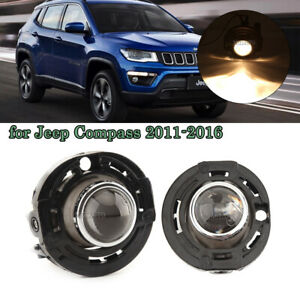 New Pair Right Left Fog Lights Lamp Driving Lamp For Jeep Compass 2011 2016