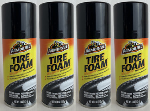 4x Armor All Tire Foam With Shine Protectant Coating Long Lasting Sheen 4 Oz