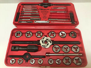 Snap on Sae Tap And Die Set Model Td 2425 Fractional Professional Missing 4 Taps
