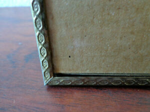 Vintage Gold Metal Picture Frame 8x10 Photo Etched Embossed Victorian Style