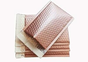 000 4 x8 Mettallic Matte Mailers Shipping Padded Bags Envelopes Rose Gold
