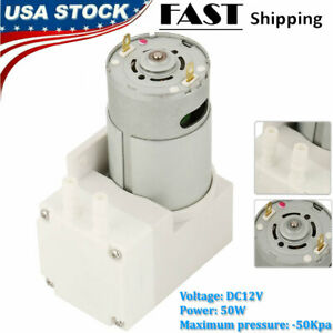 12v Mini Vacuum Pump Negative Pressure Suction Pumping 7l min 76kpa