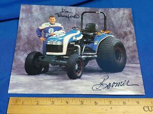 Ron Barfield Signed Poster Brochure Nascar New Holland Tractor Boomer Farm