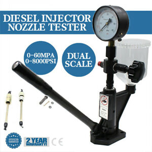 Pro Diesel Injector Injection Nozzle Tester Dual Scale Gauge 0 600bar 8000psi