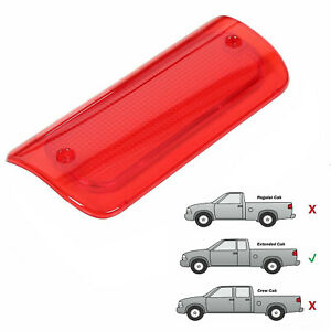 3rd Brake Light Lens Red Cover For 1994 2004 Chevy S 10 Gmc Sonoma Extended Cab Fits Gmc Sonoma