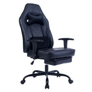 Ergonomic Racing Gaming Chair Office High back Leather Computer Chair Footrest