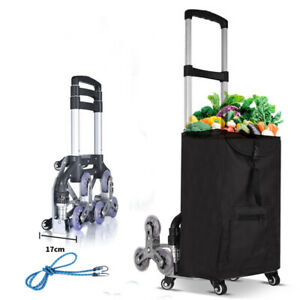 Portable Folding Stair Climbing Hand Truck Up To 165 Lbs Hand Truck Shopping Bag