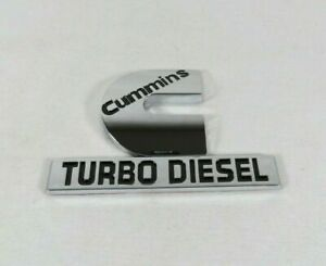Dodge Ram Cummins Turbo Diesel Emblem 06 12 Fender Chrome Badge Sign Symbol Logo
