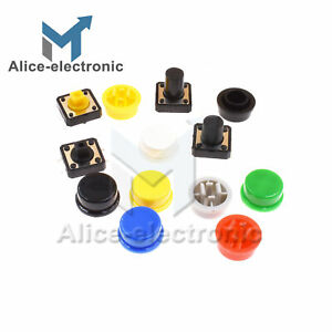 Momentary Tactile Push Button Touch Micro Switch 4p Pcb Caps 12x12x7 3 12mm B2ae