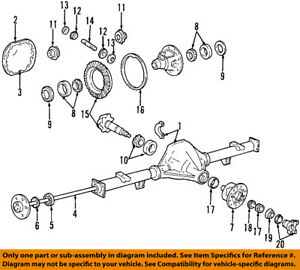 Ford Oem Rear Axle Differential Pumpkin Cover Gasket Ta29