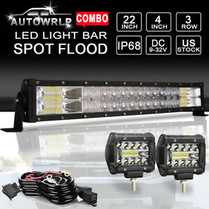 20 22 Bumper Led Light Bar Combo Drl For Ford F250 F350 Super Duty Lower Grille