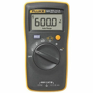 us Buyer Fluke 101 Basic Digital Multimeter Portable Meter Ac dc Volt Tester