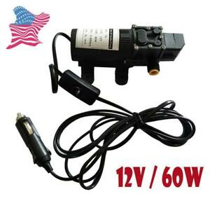12v Fuel Transfer Pump Diesel Gas Gasoline Kerosene Fluid Extractor Portable New