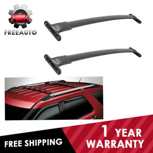Pair Roof Rack Cross Bar For 2016 19 Ford Explorer Luggage Cargo Aluminum 160lbs