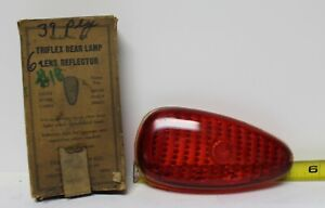 Nos Ruby Red Glass Tail Light Lens Triflex 274 1939 Plymouth 643