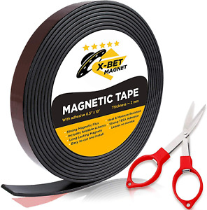 Flexible Magnetic Tape 1 2 Inch X 10 Feet Magnetic Strip With Strong Self Adhe