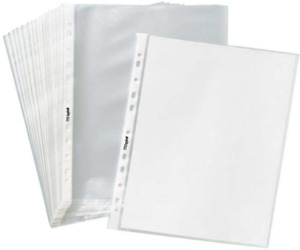 1000 Pack Economy 11 Hole Clear Sheet Protectors 8 1 2 X 11 Inch Non Vinyl Acid