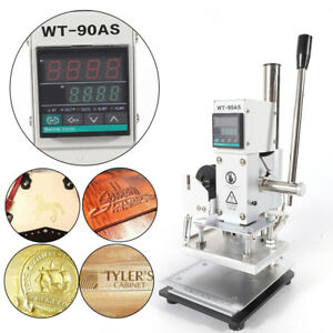 Digital Display Hot Foil Stamping Machine Leather Pvc Card Embossing Stamper Usa