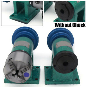 Lathe Spindle Assembly W Flange Connection Plate Transition Plate 80mm Spindle