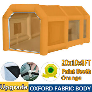28x15x10ft Inflatable Spray Booth Paint Tent Mobile Portable Car Workstation Us