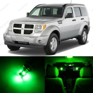 10 X Green Led Interior Light Package For 2007 2011 Dodge Nitro Pry Tool