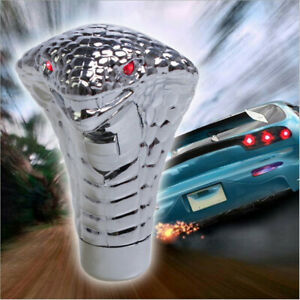 Car Red Led Eye 3d Snake Cobra Automatic Speed Wood Style Gear Shift Knob Hqe