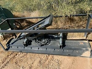 Skidsteer Tmg 94 Hydraulic Angle Dozer Blade Plow Attachment 4 Way Dirt Snow