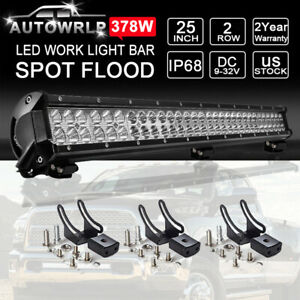 24 Roof Led Work Light Bar Combo For Utv Polaris Rzr Xp900 Xp1000 Rzr4 Xp4 25