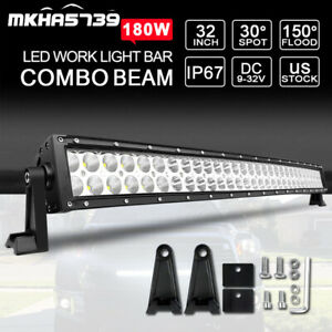 32inch 180w Led Work Light Bar Spot Flood For Ford Jeep Offroad Truck Ute 30 34