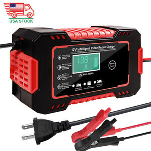 Car Battery Charger 12v 6a Full Automatic Smart Power Pulse Repair Maintainer Us