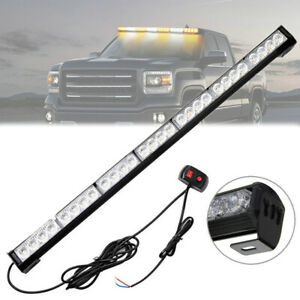 31 28w Led Emergency Safety Strobe Light Bar Traffic Advisor Amber white 12v