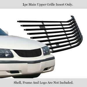 Fits 2000 2005 Chevy Impala Black Billet Grille Grill Insert