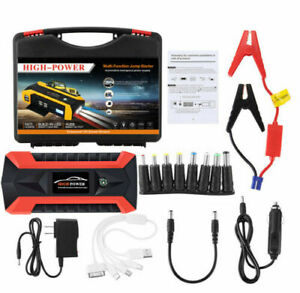 New 89800mah Car Jump Starter Pack Booster Lcd 4 Usb Charger Battery Power