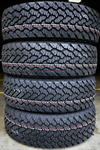 4 New General Grabber At2 215 75r15 100s A T All Terrain Tires