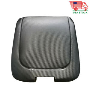 Carbon Fiber Leather Armrest Cover Central Console Lid For Dodge Ram 2013 2018