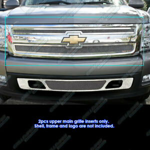 For 2007 2013 Chevy Silverado 1500 Stainless Steel Mesh Grille Grill Insert