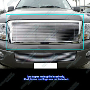 Fits 2007 2014 Ford Expedition Main Upper Billet Grille Grill Insert