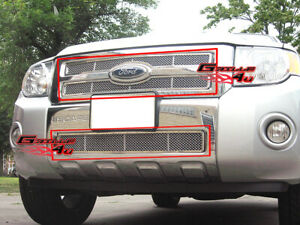 Fits 2008 2011 Ford Escape Stainless Mesh Grille Combo