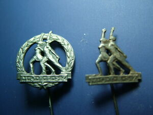 Lot Of 2 Hungary Motesz Sport Pin Badge Hungarian Communist Unknown Magyar