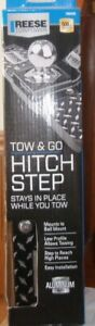 Reese Towpower 7060200 Heavy Aluminum Duty Tow And Go Hitch Step New 500 Lb Max